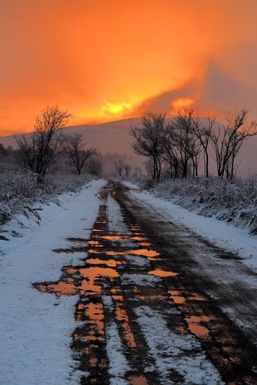 route-enneigée